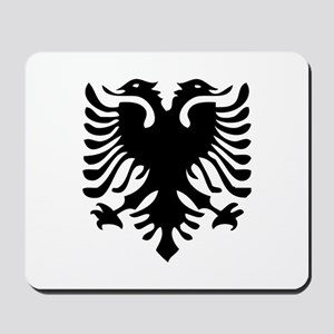 Albanian Eagle White Mousepad