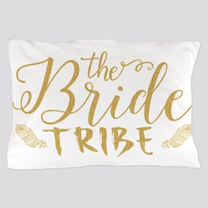 The Bride tribe Gold Glitter Modern Te Pillow Case