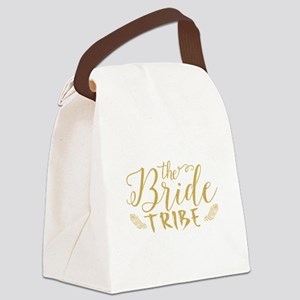 The Bride tribe Gold Glitter Mode Canvas Lunch Bag