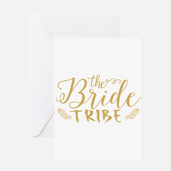 The Bride tribe Gold Glitter Modern Greeting Cards