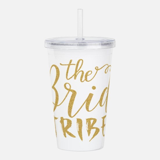 The Bride tribe Gold G Acrylic Double-wall Tumbler