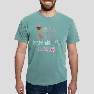 Emoji Roses Poems Bacon Mens Comfort Colors Shirt