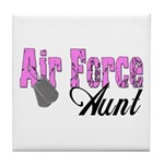 Air Force Aunt Tile Coaster