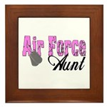 Air Force Aunt Framed Tile