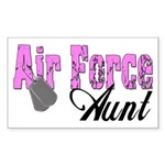 Air Force Aunt Rectangle Sticker