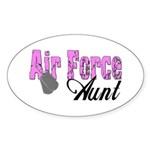 Air Force Aunt Oval Sticker