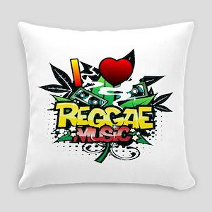 I Heart Reggae Music Everyday Pillow