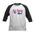 Air Force Aunt Kids Baseball Jersey