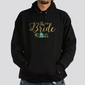 The Bride-Modern Text Design Gold Gl Hoodie (dark)