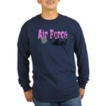 Air Force Aunt Long Sleeve Dark T-Shirt