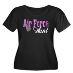 Air Force Aunt Women's Plus Size Scoop Neck Dark