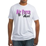 Air Force Aunt Fitted T-Shirt