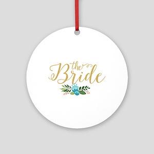 The Bride-Modern Text Design Gold G Round Ornament