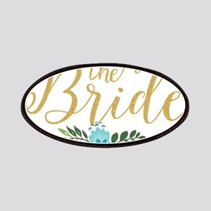 The Bride-Modern Text Design Gold Glitter & Patch
