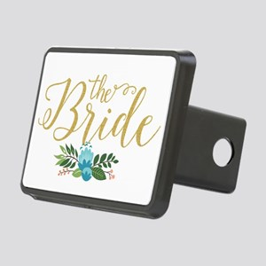The Bride-Modern Text Desi Rectangular Hitch Cover
