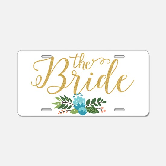 The Bride-Modern Text Desig Aluminum License Plate