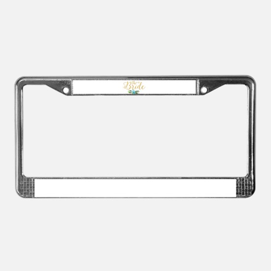 The Bride-Modern Text Design G License Plate Frame