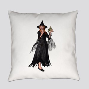 Witch Frog Everyday Pillow
