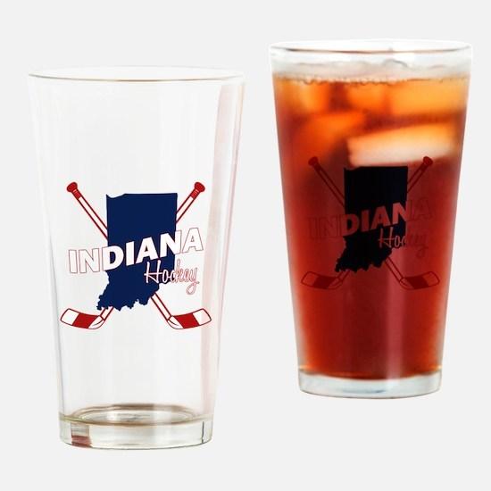 Indiana Hockey Drinking Glass