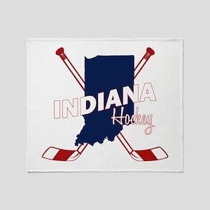 Indiana Hockey Throw Blanket
