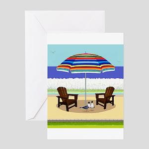 Peace Beach Greeting Cards