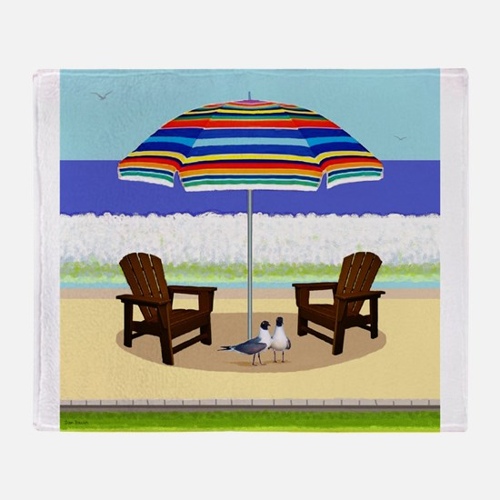 Peace Beach Throw Blanket