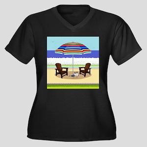 Peace Beach Plus Size T-Shirt