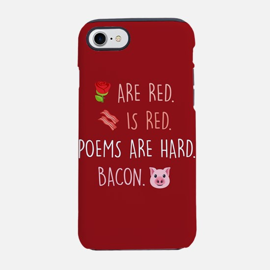 Emoji Roses Poems Bacon iPhone 8/7 Tough Case