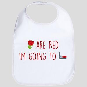 Emoji Roses Going to Bed Cotton Baby Bib