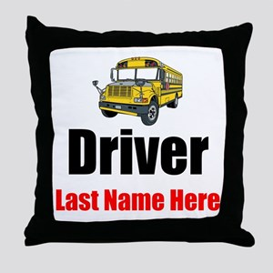 School Bus Driver Throw Pillow
