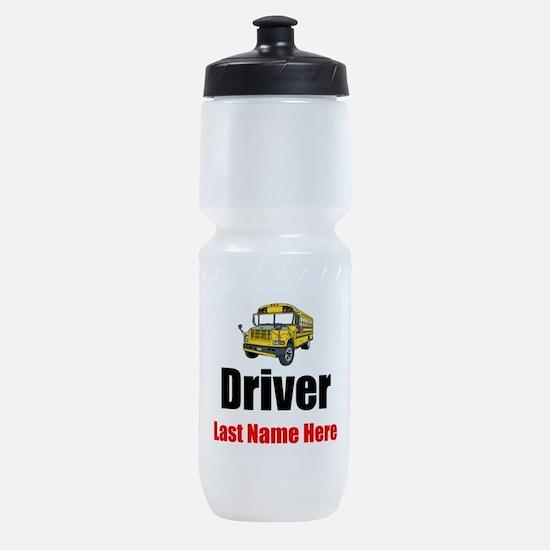 School Bus Driver Sports Bottle