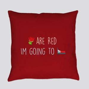 Emoji Roses Going to Bed Everyday Pillow