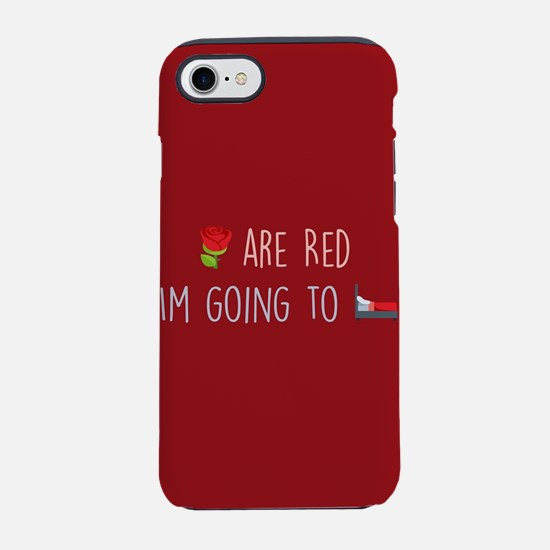 Emoji Roses Going to Bed iPhone 8/7 Tough Case
