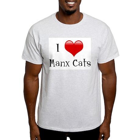 I Love Manx Cats Light T-Shirt