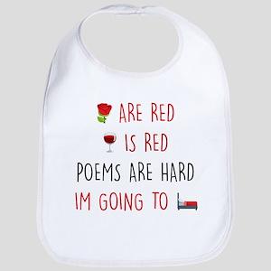 Emoji Roses Wine Bed Cotton Baby Bib