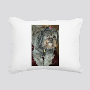 Kona Lhasa type dog up c Rectangular Canvas Pillow