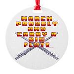 Carry A Big Flute Round Ornament