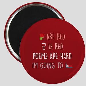 Emoji Roses Wine Bed Magnet