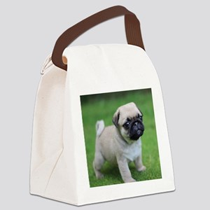 Pug Puppy Canvas Lunch Bag