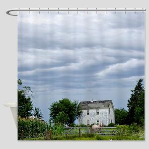 Iowa Farm House Shower Curtain