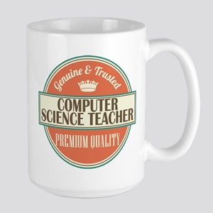 computer science teacher vintage logo Mugs
