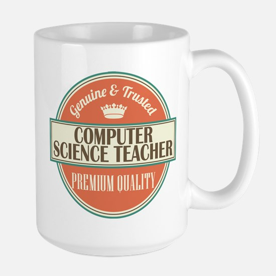 computer science teacher vintage logo Mugs
