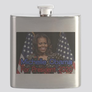 Michelle Obama For President Flask