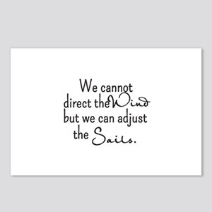 Direct the Wind, Adjust the Sails Custom Postcards