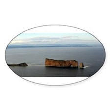 Perce Rock Gaspe Oval Sticker