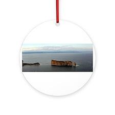 Perce Rock Gaspe Ornament (Round)