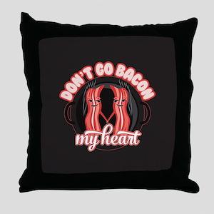 Emoji Dont go Bacon my Heart Throw Pillow