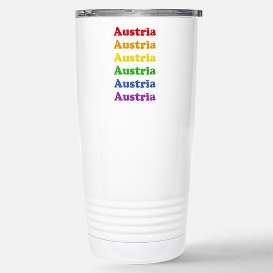 Austria (retro rainbow) Mugs
