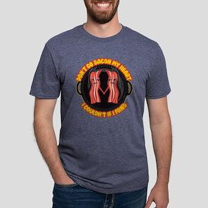 Emoji Bacon My Heart Mens Tri-blend T-Shirt