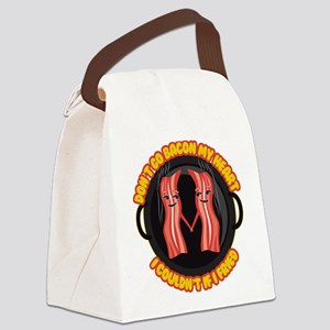 Emoji Bacon My Heart Canvas Lunch Bag